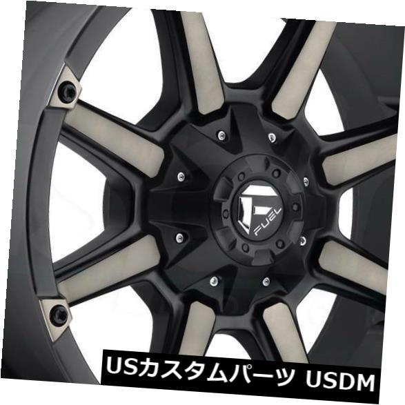 海外輸入ホイール 18x9ブラックマシニングホイールフューエルカプラーD556 5x5.5 / 5x150 1(4個セット) 18x9 Black Machined Wheels Fuel Coupler D556 5x5.5/5x150 1 (Set of 4)