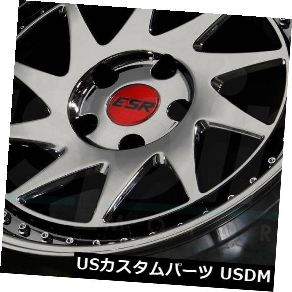 海外輸入ホイール 18x10.5ブラッククロームホイールESR SR09 SR9 5x120 22(4個セット) 18x10.5 Black Chrome Wheels ESR SR09 SR9 5x120 22 (Set of 4)