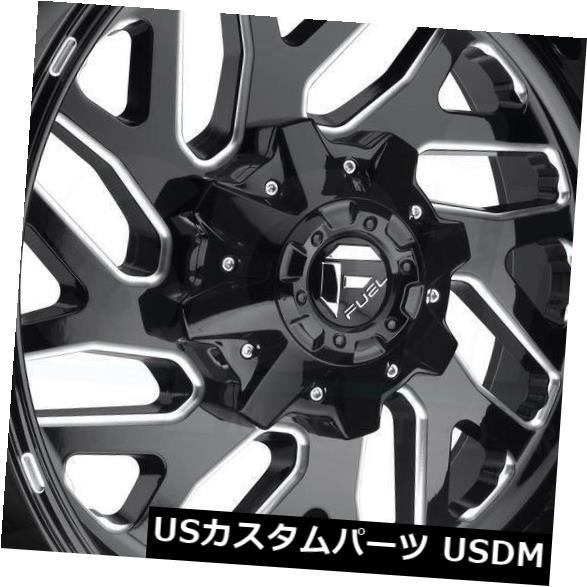 車用品 バイク用品 >> 高級 タイヤ 記念日 ホイール 海外輸入ホイール 20x9ブラックミルドホイールフューエルトリトンD581 8x6.5 8x165.1 1 4個セット Black Triton 20x9 Set D581 Milled Wheels of Fuel 4