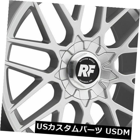 最新コレックション 海外輸入ホイール 18x8.5シルバーホイールRotiform RSE R140 5x100 / 5x114.3 35(4個セット) 18x8.5 Silver Wheels Rotiform RSE R140 5x100/5x114.3 35 (Set of 4), Reggie Shop b871af8d
