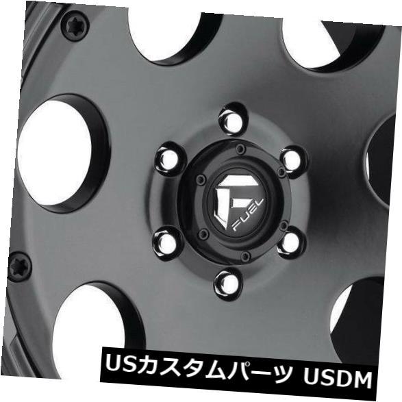 海外輸入ホイール 18x9マットブラックホイールフューエルエンデューロD608 5x5 / 5x127 -12(4個セット) 18x9 Matte Black Wheels Fuel Enduro D608 5x5/5x127 -12 (Set of 4)