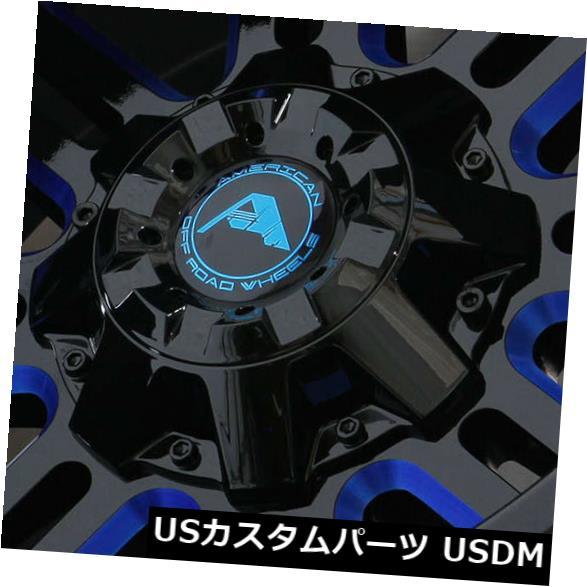 【おまけ付】 海外輸入ホイール 20x12ブラックミルドブルーホイールアメリカオフロードA106 6x135 -44(4個セット) Wheels 20x12 Black Milled of Blue -44 Wheels American Off-Road A106 6x135 -44 (Set of 4), グッドライフコート:9fd8f076 --- heathtax.com
