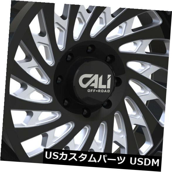 海外輸入ホイール 20x10グロスブラックミルドホイールカリオフロードスイッチバック8x180 -25(4個セット) 20x10 Gloss Black Milled Wheels Cali Off-Road Switchback 8x180 -25 (Set of 4)