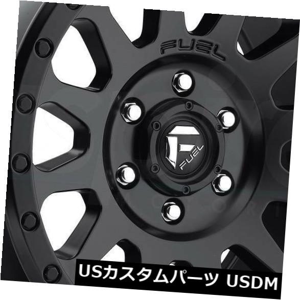 海外輸入ホイール 18x9マットブラックホイールフューエルベクターD579 8x170 1(4個セット) 18x9 Matte Black Wheels Fuel Vector D579 8x170 1 (Set of 4)