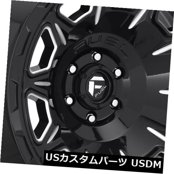 車用品 バイク用品 >> タイヤ ホイール 海外輸入ホイール 20x9 Black 専門店 Milled Wheels 1 6x5.5 交換無料 Fuel 4個セット Set 4 of 6x139.7 D688 Vengeance