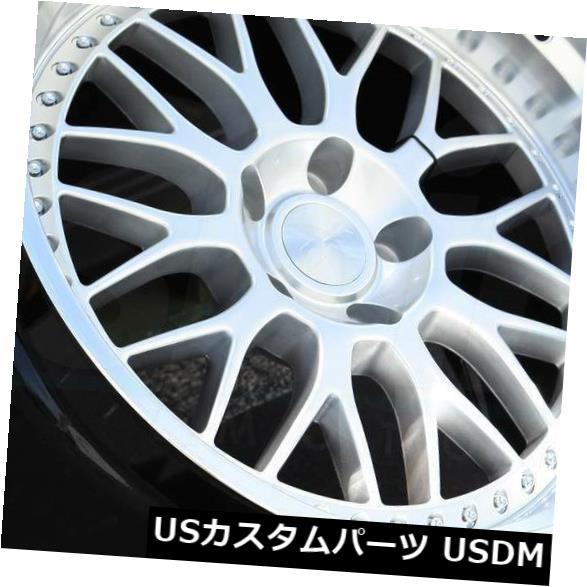 海外輸入ホイール 19x9.5ハイパーシルバーホイールESR SR01 SR1 5x120 35(4個セット) 19x9.5 Hyper Silver Wheels ESR SR01 SR1 5x120 35 (Set of 4)