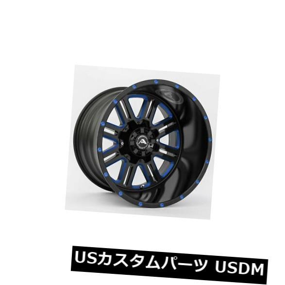 大人女性の 海外輸入ホイール 20x10ブラックミルドブルーホイールアメリカオフロードA106 6x120 -24(4個セット) 6x120 4) 20x10 Black Milled Blue Wheels -24 American Off-Road A106 6x120 -24 (Set of 4), SWAPMEET:76c9790c --- heathtax.com