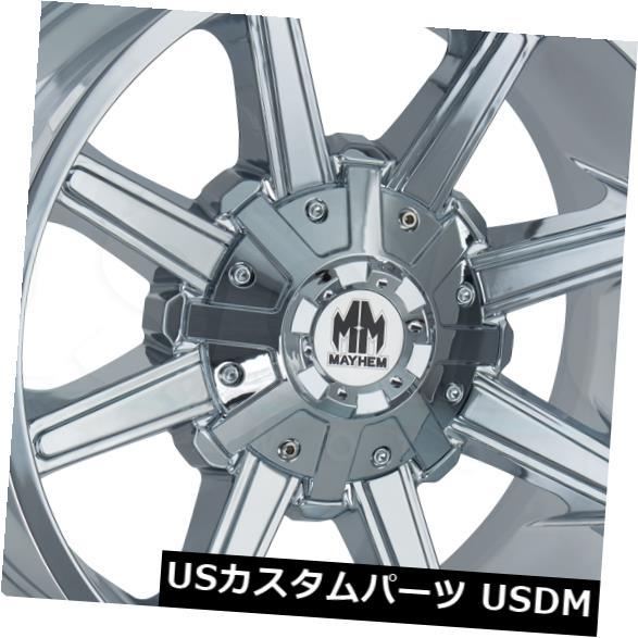 海外輸入ホイール 18x9クロームホイールメイヘムアーセナル5x114.3 / 5x5 -12(4個セット) 18x9 Chrome Wheels Mayhem Arsenal 5x114.3/5x5 -12 (Set of 4)