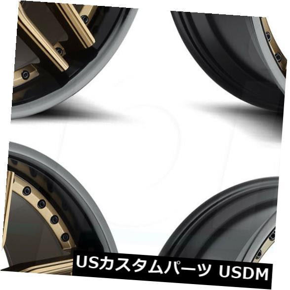 車用品 バイク用品 定番スタイル >> タイヤ ホイール 海外輸入ホイール 20x9ブロンズブラックホイールNiche Methos M195 5x112 of Niche 4 Bronze 20x9 トラスト Set 27 Wheels Black 4個セット