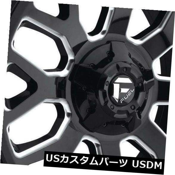 車用品 バイク用品 >> タイヤ ホイール 海外輸入ホイール 20x9ブラックミルドホイールフューエルウォリアーD607 8x170 特価 20 4個セット Wheels D607 20x9 Black of Set Fuel Milled 4 超激安特価 Warrior