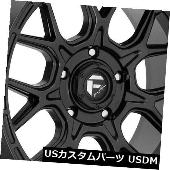 車用品 バイク用品 >> タイヤ ホイール 海外輸入ホイール 20x10 新着セール Black Wheels Fuel 6x139.7 6x5.5 of 4個セット Set -18 上等 Tech 4 D670