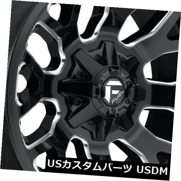車用品 バイク用品 >> タイヤ ホイール 海外輸入ホイール 20x9 Black Milled Wheels of 4 6x5.5 D623 最安値挑戦 6x135 Set 1 現品 Fuel Warrior 4個セット