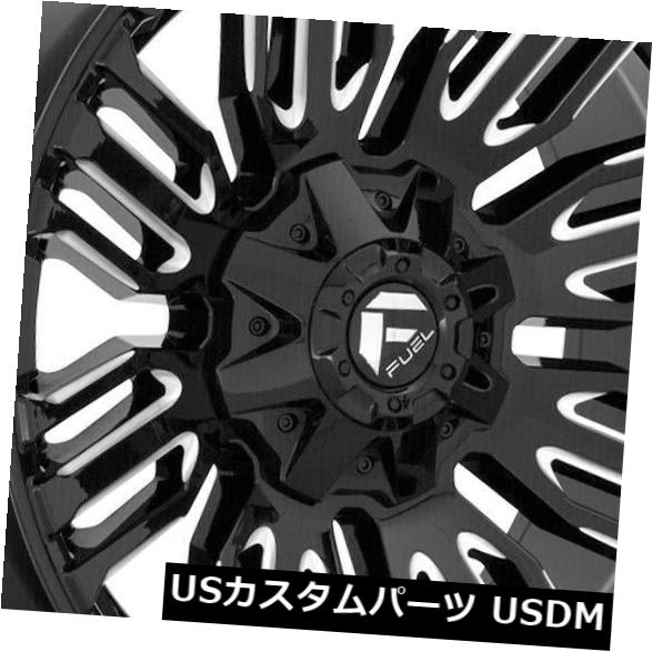 <title>車用品 通販 バイク用品 >> タイヤ ホイール 海外輸入ホイール 20x9 Black Milled Wheels Fuel Schism D649 8x6.5 8x165.1 1 4個セット Set of 4</title>