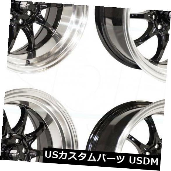 ●日本正規品● 海外輸入ホイール 16x8グロスブラックホイールMST MT11 MT11 5x100/ (Set 5x114.3 15 15(4個セット) 16x8 Gloss Black Wheels MST MT11 5x100/5x114.3 15 (Set of 4), クキシ:91ec4e2e --- anekdot.xyz