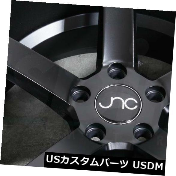 海外輸入ホイール 18x8 18x10マットブラックホイールJNC 026 JNC026 5x114.3 35 25 4個セット 18x8 18x10 Matte Black Wheels JNC 026 JNC026 5x114.3 35 25 Set