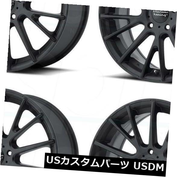 車用品 バイク用品 完全送料無料 >> タイヤ ホイール 海外輸入ホイール 16x7サテンブラックホイールアメリカンレーシングAR904 5x112 40 4個セット 4 Racing 新作製品、世界最高品質人気! AR904 Black Satin Wheels American of Set 16x7