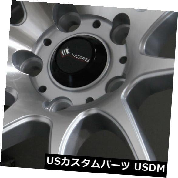 世界的に 海外輸入ホイール 18x8.5シルバー加工ホイールVors TR4 Vors of 5x110 35 35(4個セット) 18x8.5 Silver Machined Wheels Vors TR4 5x110 35 (Set of 4), 目黒区:a2881d07 --- verandasvanhout.nl