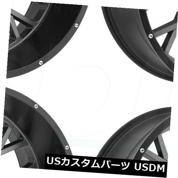 【日本産】 海外輸入ホイール Lip 18x9ガンメタルブラックリップホイールビジョン412ロッカー8x170 12(4個セット) of 18x9 (Set Gunmetal Black Lip Wheels Vision 412 Rocker 8x170 12 (Set of 4), マザーガーデン:f0653c32 --- statwagering.com