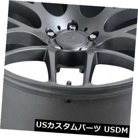 海外輸入ホイール 20x8.5マットグラファイトホイールVerde V44 Empire 5x114.3 35(4個セット) 20x8.5 Matte Graphite Wheels Verde V44 Empire 5x114.3 35 (Set of 4)