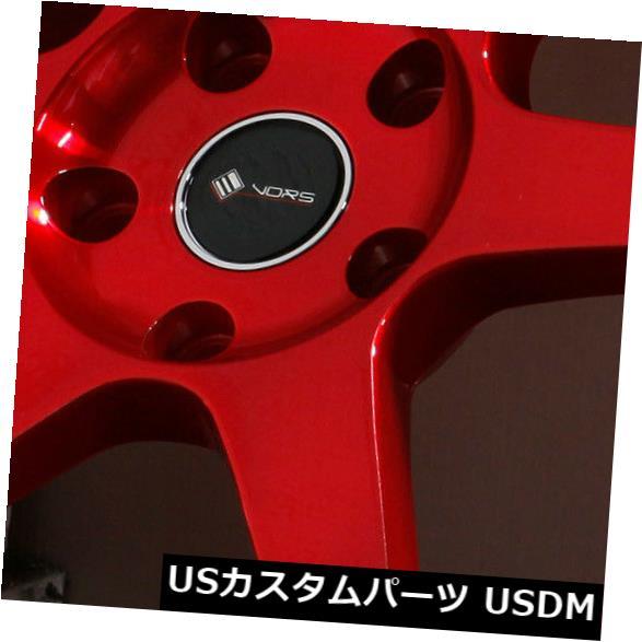 海外輸入ホイール 18x8.5キャンディレッドホイールVors TR37 5x114.3 35(4個セット) 18x8.5 Candy Red Wheels Vors TR37 5x114.3 35 (Set of 4)