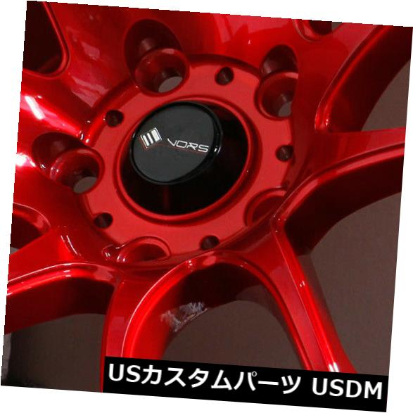 海外輸入ホイール 18x8.5キャンディレッドホイールVors TR4 5x114.3 35(4個セット) 18x8.5 Candy Red Wheels Vors TR4 5x114.3 35 (Set of 4)