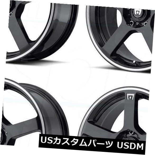 車用品 バイク用品 >> タイヤ ホイール 海外輸入ホイール 16x7ブラックマシンホイールMotegi 価格 交渉 送料無料 MR116 5x100 5x114.3 Set 4個セット Motegi 4 Black 新作通販 Machine Wheels of 40 16x7