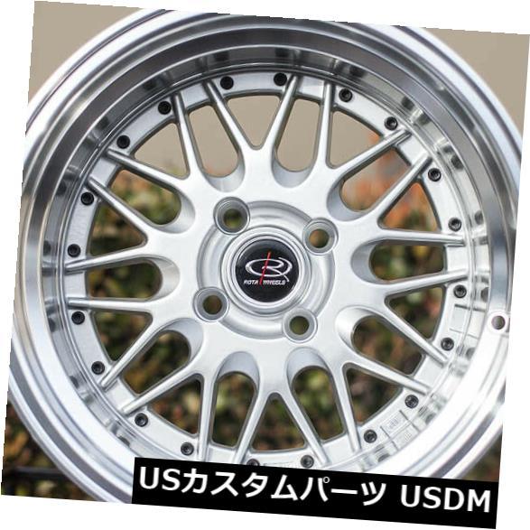 海外輸入ホイール 15x8ロイヤルシルバーホイールロタケンセイ4x114.3 0(4個セット) 15x8 Royal Silver Wheels Rota Kensei 4x114.3 0 (Set of 4)