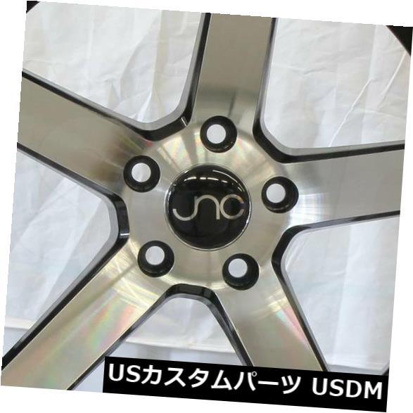 海外輸入ホイール 18x8ブラックマシンフェイスホイールJNC 026 JNC026 5x114.3 35 4個セット 18x8 Black Machine Face Wheels JNC 026 JNC026 5x114.3 35 Set of 4