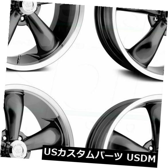 海外輸入ホイール 18x9.5 Gunmetal Wheels Vision 142 Legend 5 5x114.3 12(4個セット) 18x9.5 Gunmetal Wheels Vision 142 Legend 5 5x114.3 12 (Set of 4)