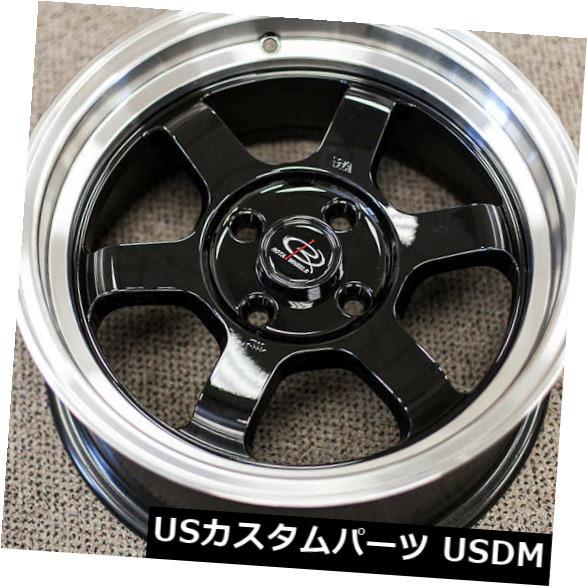 海外輸入ホイール 15x8 Royal Black Wheels Rota Grid V 4x114.3 0(4個セット) 15x8 Royal Black Wheels Rota Grid V 4x114.3 0 (Set of 4)