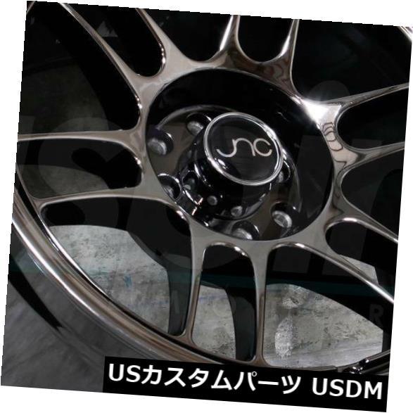 海外輸入ホイール 18x10.5ブラッククロームホイールJNC 021 JNC021 5x114.3 25(4個セット) 18x10.5 Black Chrome Wheels JNC 021 JNC021 5x114.3 25 (Set of 4)