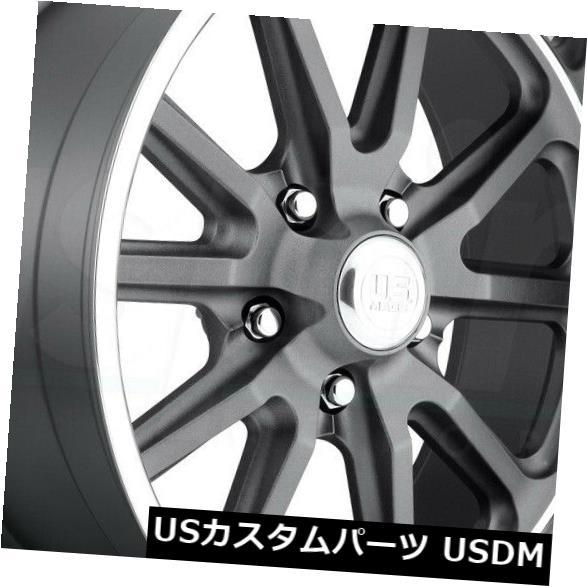 春夏新作モデル 海外輸入ホイール 15x8 GunMetal Wheels US Mags Rambler U111 5x4.75 / 5x120.6 5 1(4個セット) 15x8 GunMetal Wheels US Mags Rambler U111 5x4.75/5x120.65 1 (Set of 4), さくらソレイユ eef178d6
