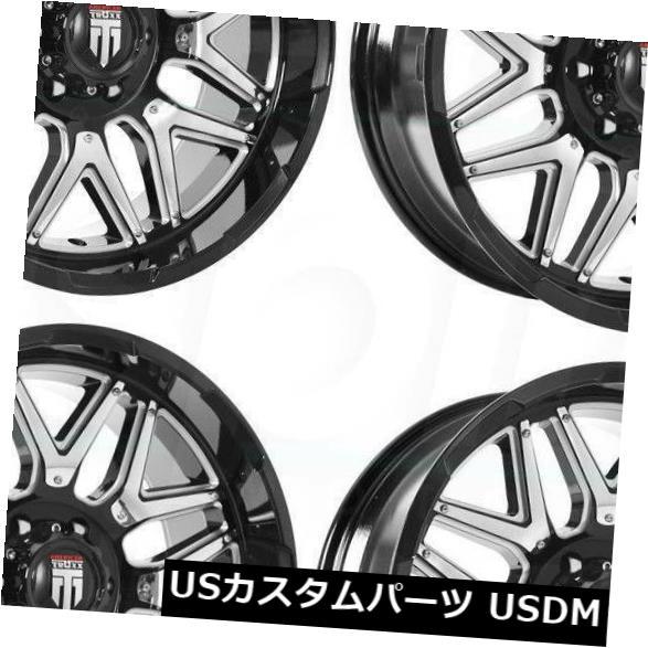 海外輸入ホイール 20x9ブラックミルドホイールTruxx AT151 8x180 0(4個セット) 20x9 Black Milled Wheels Truxx AT151 8x180 0 (Set of 4)