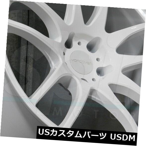 海外輸入ホイール 18x9.5ホワイトホイールVordoven Forme 9 5x114.3 22(4個セット) 18x9.5 White Wheels Vordoven Forme 9 5x114.3 22 (Set of 4)