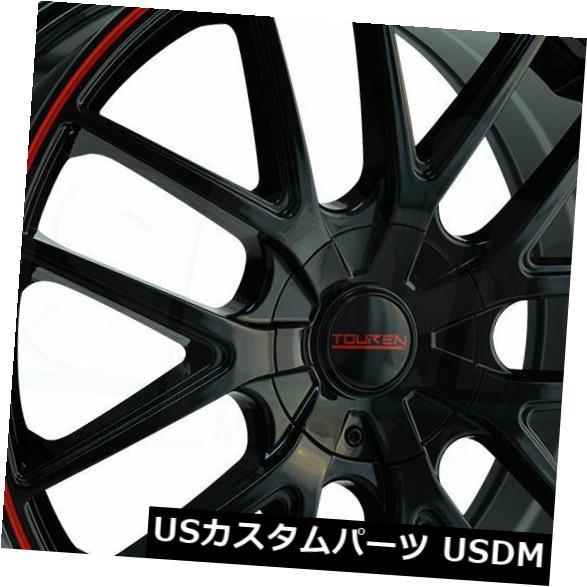 車用品 バイク用品 >> タイヤ ホイール 海外輸入ホイール 16x7黒赤リングホイールTouren TR60 5x100 5x114.3 42 4個セット 4 お見舞い Ring Touren of Black 定価 Set Red Wheels 16x7