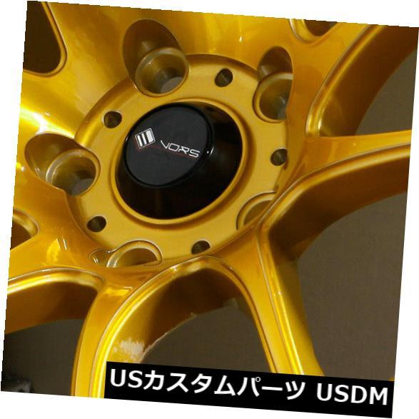 海外輸入ホイール 18x8.5キャンディゴールドホイールVors TR4 5x114.3 35(4個セット) 18x8.5 Candy Gold Wheels Vors TR4 5x114.3 35 (Set of 4)