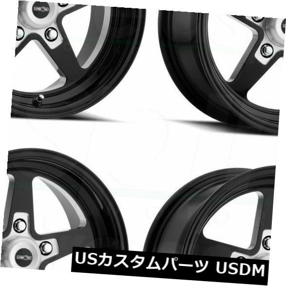 海外輸入ホイール 15x8 Black Milled Wheels Vision 571 Sport Star II 5x4.75 27 4個セット 15x8 Black Milled Wheels Vision 571 Sport Star II 5x4