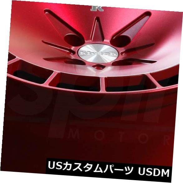 海外輸入ホイール 16x8 16x9 Fusion Red Wheels Klutch KM16 4x114.3 15 18 4個セット 16x8 16x9 Fusion Red Wheels Klutch KM16 4x114.3 15 18 Set o