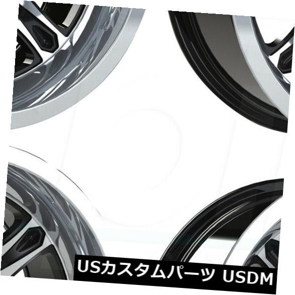 品質満点! 海外輸入ホイール 12x7/ 12x8ブラックマシニングホイールビジョンATV 547 Machined Spirit 4) 4x156 3/ (Set -10(4個セット) 12x7/12x8 Black Machined Wheels Vision ATV 547 Spirit 4x156 3/-10 (Set of 4), 安来市:55e6eead --- ltcpackage.online