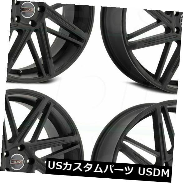 海外輸入ホイール 18x8.5サテンブラックホイールMilanni 9062 Blitz 5x114.3 32(4個セット) 18x8.5 Satin Black Wheels Milanni 9062 Blitz 5x114.3 32 (Set of 4)