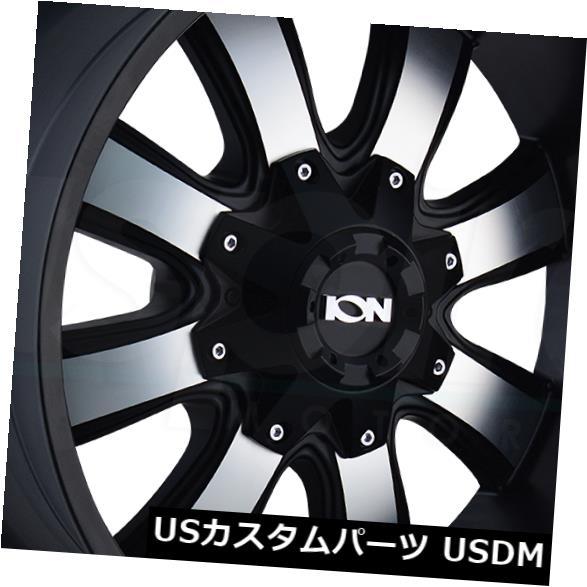 2021新作モデル 海外輸入ホイール 20x9サテンブラックマシニングホイールイオン189 5x5.5 / 5x150 18(4個セット) 20x9 Satin Black Machined Wheels Ion 189 5x5.5/5x150 18 (Set of 4), 腕時計アパレル雑貨小物のSP 0992e41b