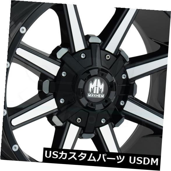 海外輸入ホイール 17x9グロスブラックマシニングホイールメイヘムアーセナル6x135 / 6x5.5 18(4個セット) 17x9 Gloss Black Machined Wheels Mayhem Arsenal 6x135/6x5.5 18 (Set of 4)