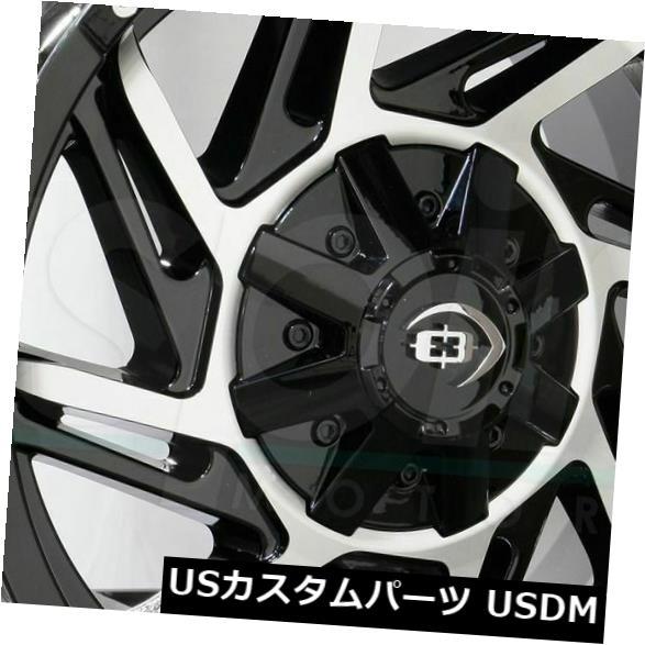 海外輸入ホイール 17x9 Black Machined Wheels Vision 422 Prowler 6x5.5 / 6x139.7 12(4個セット) 17x9 Black Machined Wheels Vision 422 Prowler 6x5.5/6x139.7 12 (Set of 4)