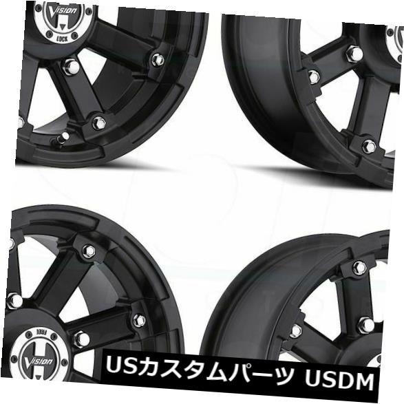2021人気特価 海外輸入ホイール 12x8マットブラックホイールビジョンATV 4x110 393ロックアウト4x110 -61(4個セット) 12x8 Matte Black Wheels (Set Vision Wheels ATV 393 Lockout 4x110 -61 (Set of 4), アンティーク インテリア FeuFeu:0edfb9fc --- inglin-transporte.ch