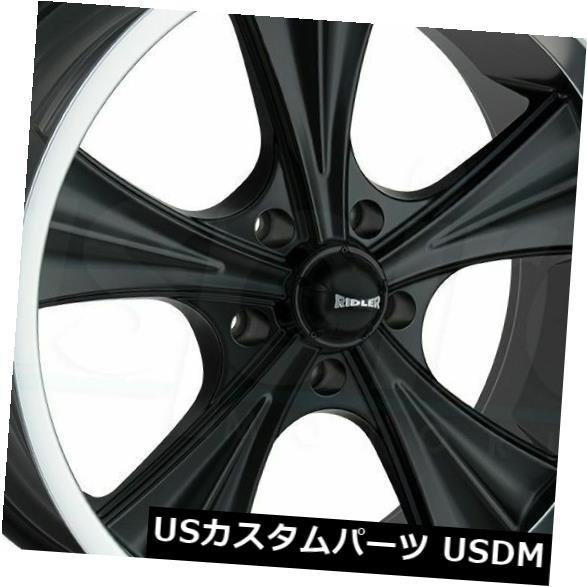 海外輸入ホイール 18x9.5マットブラックマシンドリップホイールリドラー651 5x114.3 0(4個セット) 18x9.5 Matte Black Machined Lip Wheels Ridler 651 5x114.3 0 (Set of 4)