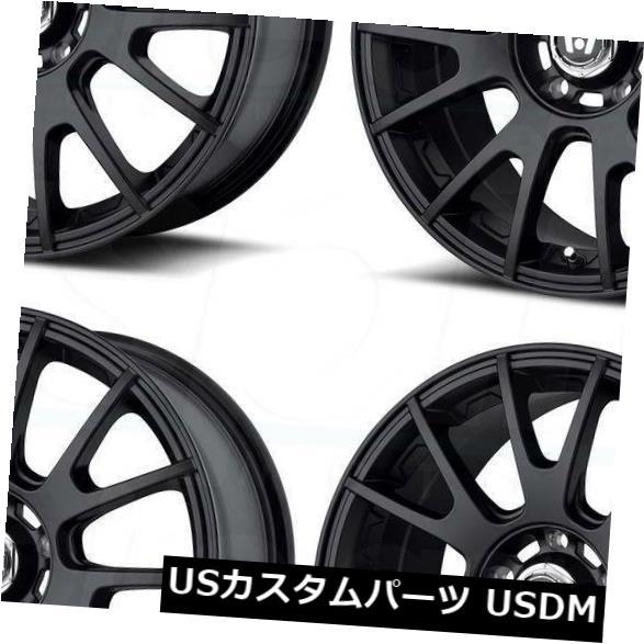 最安 海外輸入ホイール 17x8マットブラックホイールMotegi MR118 5x100 45(4個セット) 17x8 of 5x100 Matte (Set Black Wheels Motegi MR118 5x100 45 (Set of 4), アウトドアゾーン:276491a3 --- tedlance.com