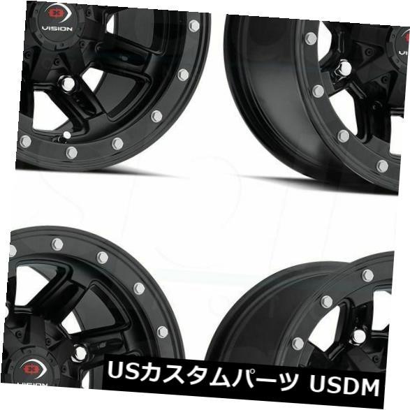 新しく着き 海外輸入ホイール 4) 12x8マットブラックホイールVision Vision ATV 550 Five of Fifty 4x156 -10(4個セット) 12x8 Matte Black Wheels Vision ATV 550 Five Fifty 4x156 -10 (Set of 4), アサヒカルピスウェルネスショップ:1265661e --- inglin-transporte.ch