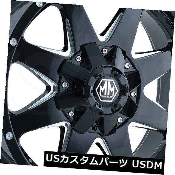 即日発送 海外輸入ホイール 6x135/6x5.5 18x9 18x9ブラックミルドホイールズメイヘムタンク6x135/ 6x5.5 18(4個セット) 18x9 4) Black Milled Wheels Mayhem Tank 6x135/6x5.5 18 (Set of 4), バイクバイク用品のレオタニモト:39ab0e16 --- statwagering.com