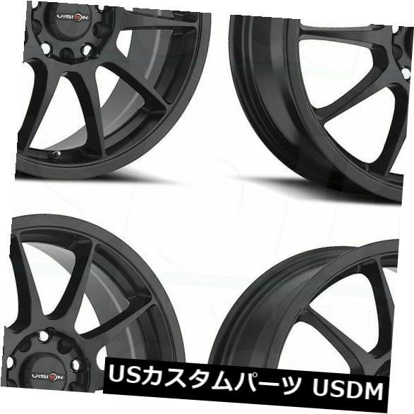 最安値で  海外輸入ホイール Black 15x6.5マットブラックホイールVision 425 of Bane 5x112/ 5x114.3 38(4個セット) 425 15x6.5 Matte Black Wheels Vision 425 Bane 5x112/5x114.3 38 (Set of 4), 調理用品のキッチンよろず:38616917 --- unifiedlegend.com