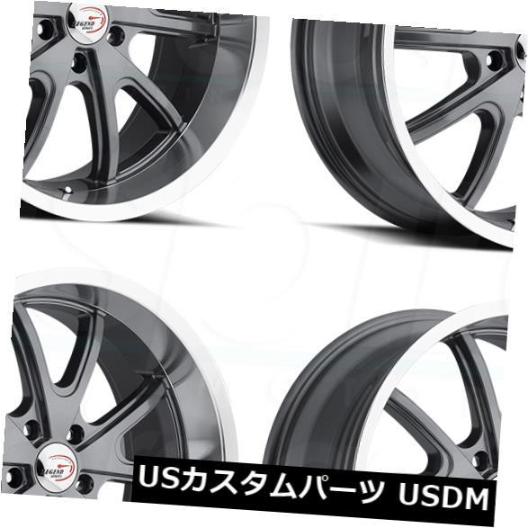 上品な 海外輸入ホイール 15x7ガンメタルホイールビジョン143トルク5x4.75 -7(4個セット) 143 15x7 Wheels Gunmetal Wheels Vision 143 Torque of 5x4.75 -7 (Set of 4), 金ヶ崎町:5641bfeb --- unifiedlegend.com